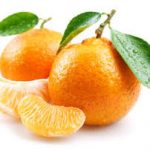 Tangerine white background